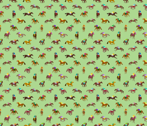 To The Races Green fabric by dasbrooklyn on Spoonflower - custom fabric