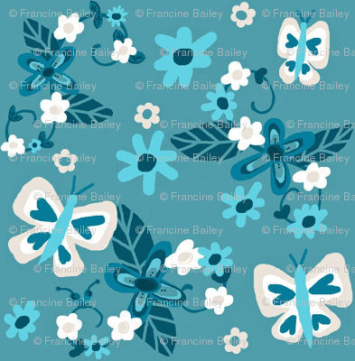 Floral Flutterby Blues