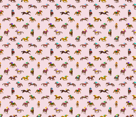 To the Races Pink fabric by dasbrooklyn on Spoonflower - custom fabric