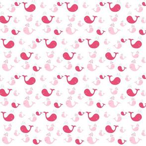 whale tales splash 525- pink