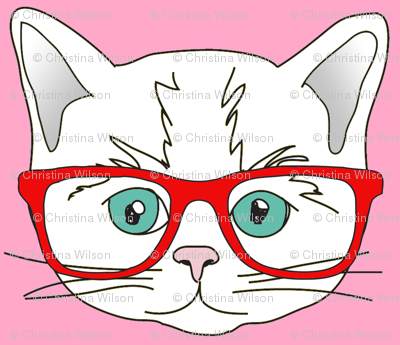 Kitten Hipster Pink Small