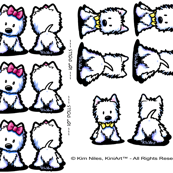 KiniArt™ Westie Doll Panel Set