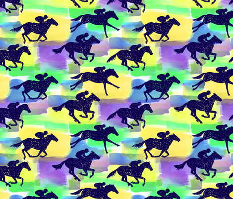 derby time   fabric by andibird on Spoonflower - custom fabric