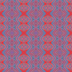 GP3 - Small - Geometric Pillars in Red - Aqua - Purple