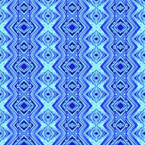 GP21 - Geometric Pillars in Aqua - Blue