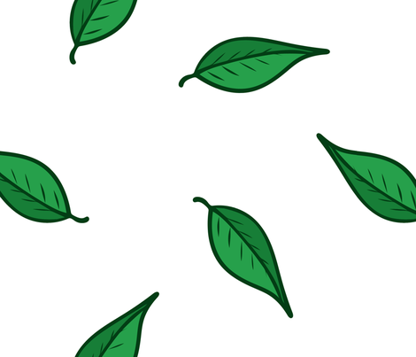 Springtime Leaves fabric by bags29 on Spoonflower - custom fabric