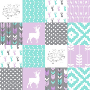 fearfully and wonderfully made patchwork - purple  (buck)