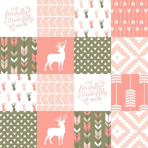 fearfully and wonderfully made (peach/olive) buck