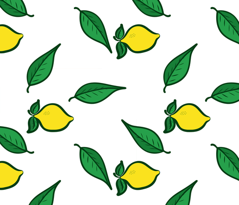 Fresh Picked Lemons 2 fabric by bags29 on Spoonflower - custom fabric