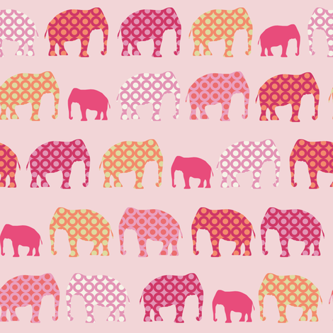 Urban Circus Elephants Pink fabric by lauriewisbrun on Spoonflower - custom fabric