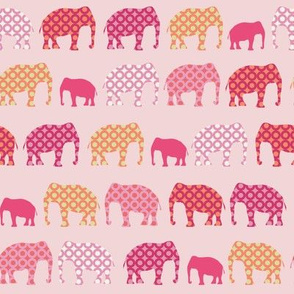 Urban Circus Elephants Pink