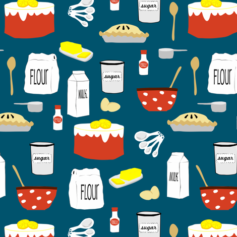 Pies and Cakes fabric by lauriewisbrun on Spoonflower - custom fabric
