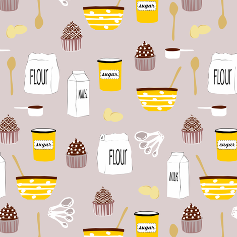 Cupcakes fabric by lauriewisbrun on Spoonflower - custom fabric