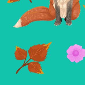 fox pattern Spoonflower