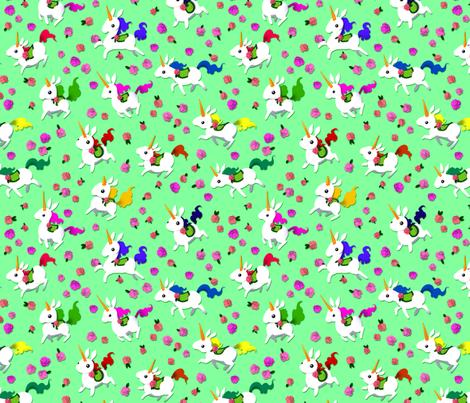 Unicorn Race fabric by jadegordon on Spoonflower - custom fabric