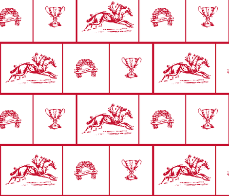 Red Work at the Races fabric by kae50 on Spoonflower - custom fabric