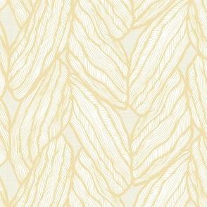 Knitting - Stitched Baby Yellow