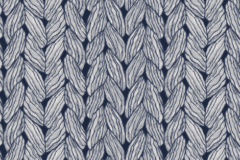 Knitting - Stitched Navy fabric by docious_designs_by_patricia_braune on Spoonflower - custom fabric
