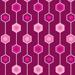 Hexagon stripe magenta