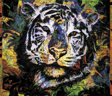 In the eyes of a tiger fabric by ravens_spirit_song on Spoonflower - custom fabric