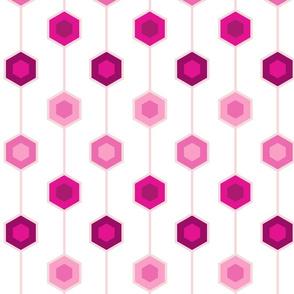 Hexagon stripe - white background
