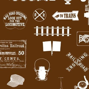 Railroad Symbols - Brown // Large