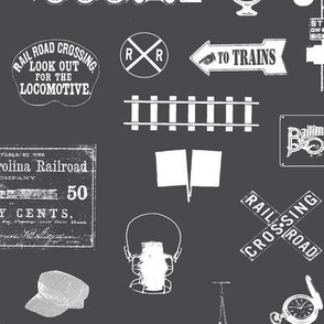 Railroad Symbols - Charcoal // Large