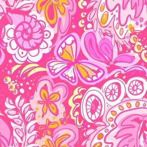 Flowerpower pink Odette Lager