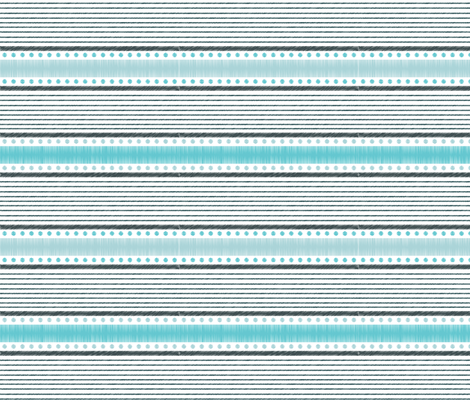 Bohemian Essence Blue - Boho stripes print  fabric by victoriafotopouloudesigns on Spoonflower - custom fabric