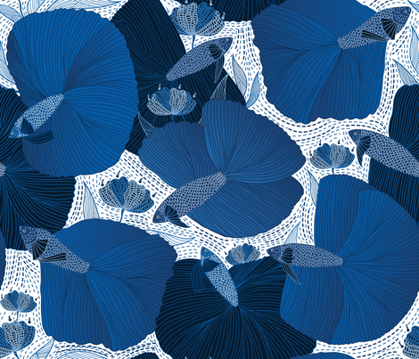 betta fish fabric by y_me_it's_me on Spoonflower - custom fabric