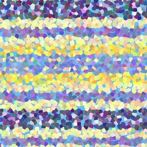FNB1 - Large Stripes of Digital Glitter in Lemon Yellow - Violet - Crosswise