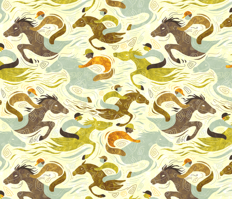 horseraces fabric by gaiamarfurt on Spoonflower - custom fabric