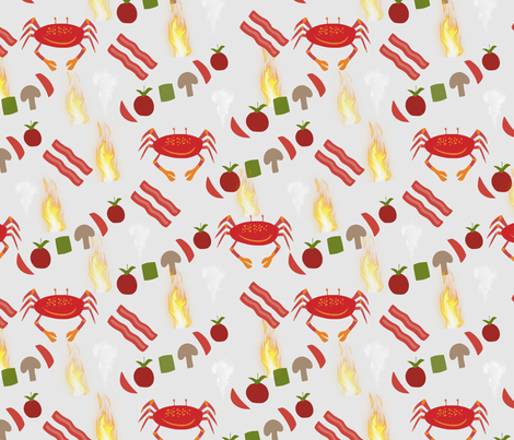 Summer Hot Hot Hot fabric by simply_life on Spoonflower - custom fabric