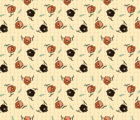 Aberdeen Angus - mustard fabric by rsawyer_designs on Spoonflower - custom fabric