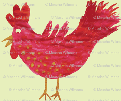 my pinkish rooster