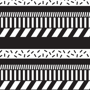 Black and white stripes. Geometry pattern design.