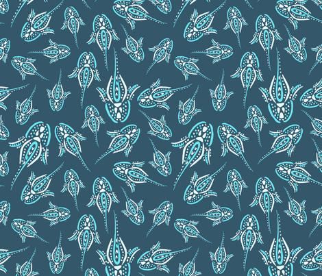 Bioluminessence - Deep blue fabric by rsawyer_designs on Spoonflower - custom fabric