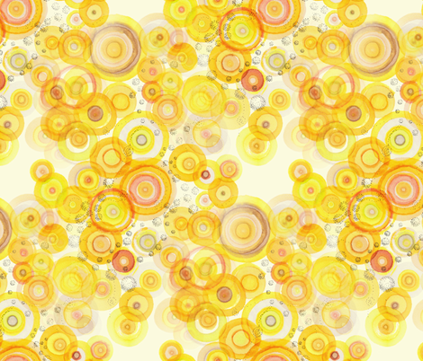 sunlight ripples yellow fabric by nerdlypainter on Spoonflower - custom fabric