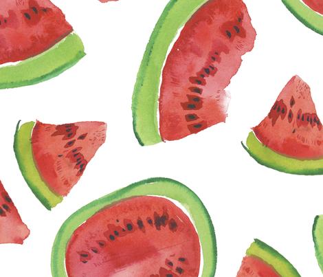 Watermelon pattern 2 fabric by oleg&katya on Spoonflower - custom fabric