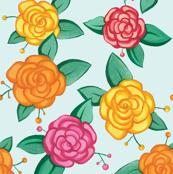 Gouache roses