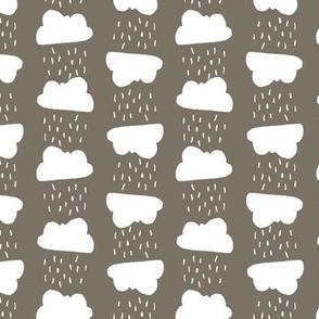 Rain clouds - gray and white
