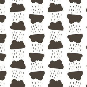 Rain clouds - white and gray