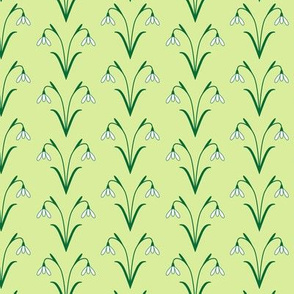 Snowdrops lime green
