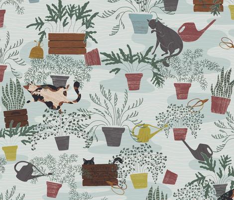 Farmhouse Felines fabric by harrietharkerdesign on Spoonflower - custom fabric