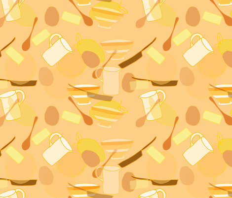 monochrome pancake day fabric by claireybean on Spoonflower - custom fabric