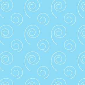 Blue background with spirals
