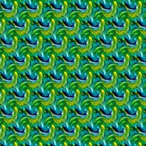 Swirling Blue Greens - Small