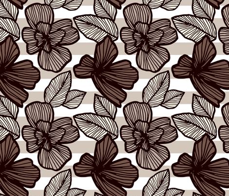 Vintage Flowers fabric by carambola_pattern_design on Spoonflower - custom fabric