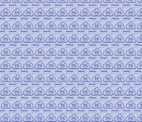 Poop Emoji fabric by debraclutterdesigns on Spoonflower - custom fabric