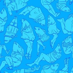 Peppy Springtime Legfish in BLUE!!